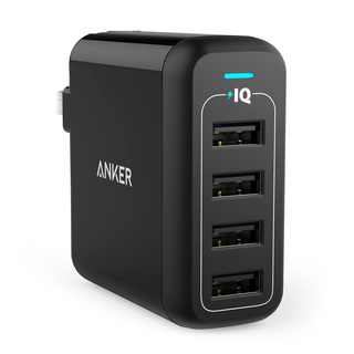 Anker Powerport 4 40W 4Port USB Wall Charger - Black
