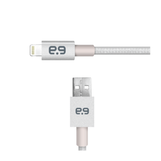 Puregear 4Ft. Mettalic Lightning Cable - Silver