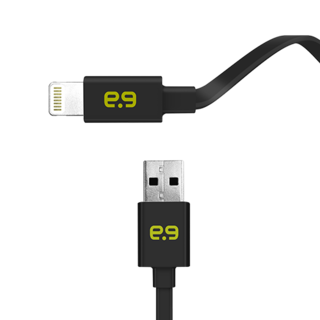 Puregear 4Ft. Flat Lightning Cable - Black