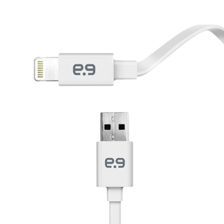 Puregear 4Ft. Flat Lightning Cable - White