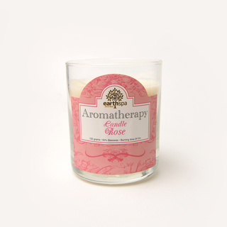 EARTHSPA AROMATHERAPY CANDLE ROSE 120G (47755)