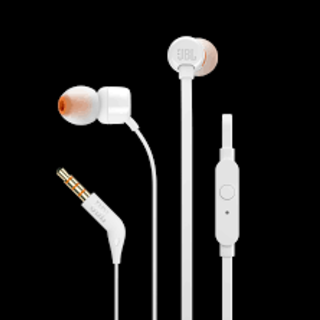 JBL T110 IN-EAR HEADPHONE WHITE