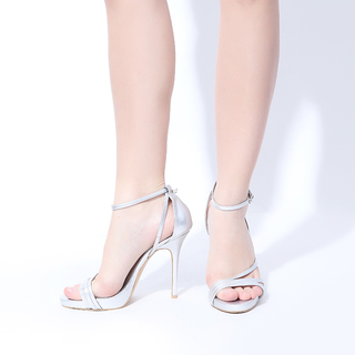 Janylin Strappy Sandals (7-3558-Silver)