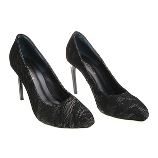 Janylin Semi Round Pumps (7-3596-Black)