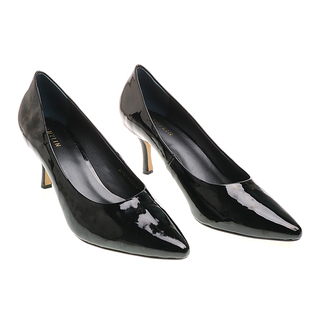 Janylin Patent Pointed Pumps (7-3622-Black)