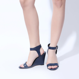Janylin One Band Strap Wedge (7-3701-NavyBlue)