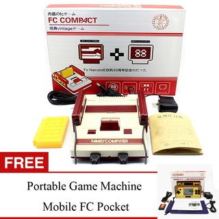 FC Compact 30th Anniversary 8 Bit Family Computer Console with FREE Portable Game Machine Mobile FC Pocket