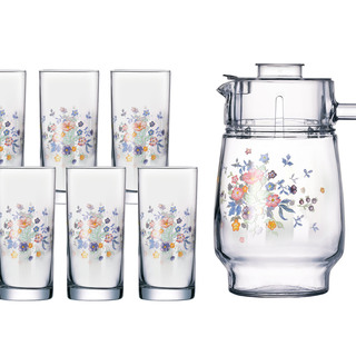 LUMINARC AE G0041 VICTORIA DECORATED 7PC DRINK SET (AARC066)