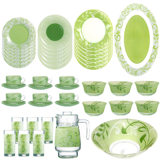 LUMINARC AE E5581 PLENITUDE GREEN 38PC+7P TABLE SET (AARC152)