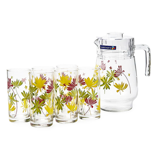 LUMINARC AE G4621 CRAZY FLOWERS 7PC DRINK SET (AARC153)
