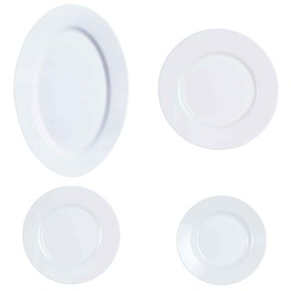 LUMINARC AE J2977 ESSENCE WHITE 19PC DINNER SET (AARE004)