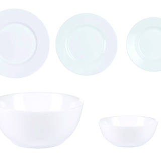 LUMINARC AE J4851 ESSENCE 11+2PC RICE BOWL & PLATE (AARE022)
