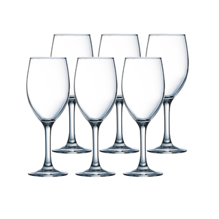 LUMINARC FR H5702 RAINDROP WINE STEMGLASS 35CL SET OF 6 (CARR014)