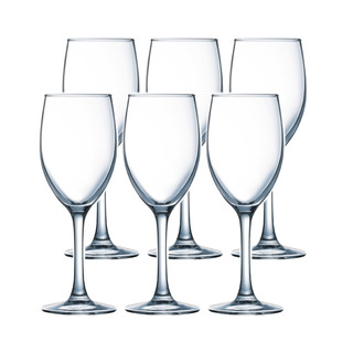 LUMINARC FR H5701 RAINDROP WINE STEMGLASS 25CL SET OF 6 (CARR015)