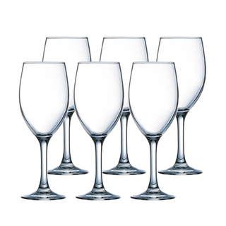 LUMINARC FR H5700 RAINDROP WINE STEMGLASS 19CL SET OF 6 (CARR016)