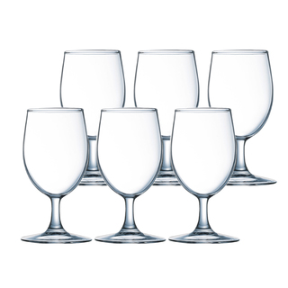 LUMINARC FR H5703 RAINDROP M-PURPOSE STEMGLASS 35CL SET OF 6 (CARR017)