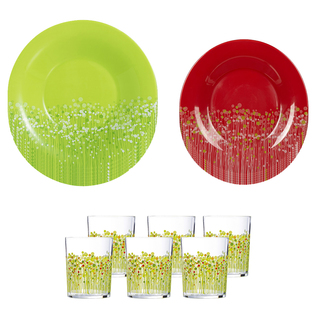 LUMINARC FR H8933 FLOWERFIELD 18PC DINNER SET (FLUF341)