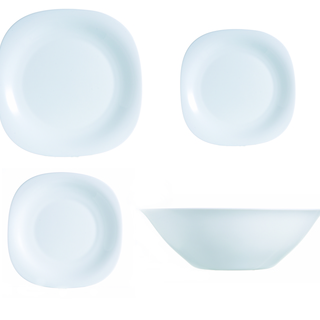 LUMINARC FR J1601 CARINE WHITE 19PC +6 DINNER SET (FPAC162)