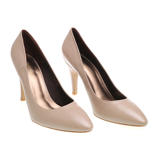 Janylin Pointed Heeled Pumps (7-3964-Beige)