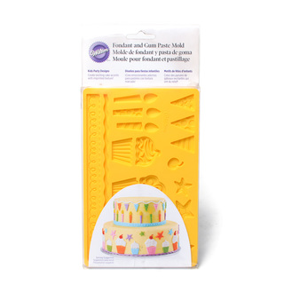 WILTON KIDS PARTY FONDANT & GUM PASTE MOLD (38327)