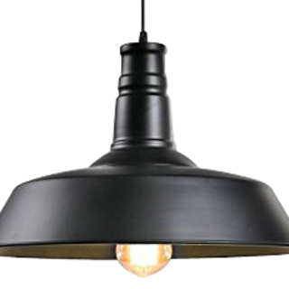 LEWIS 36cm Black DROP LIGHT