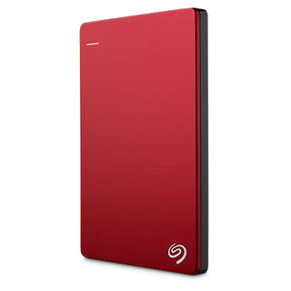 Seagate Backup Plus Slim 1TB External Hard Disk Drive (Red)