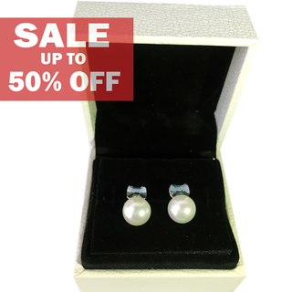 My Story Swarovski Ribbon Pearl Earrings (t207)