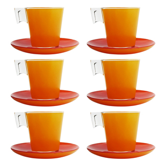 LUMINARC FLUB155 D2627 BICOLOR ORANGE RED CUP/SAUCER 22CL (FLUB155)