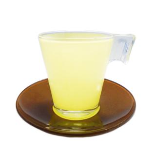LUMINARC FR D4069 BICOLOR CHOCO VANIL CUP/SAUCER 22CL (FLUB132)