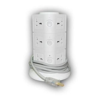 Extension Cord (White) (Akari AEC-613K)