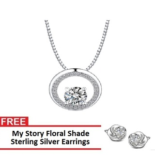 My Story Crystal Light Necklace and FREE My Story Floral Shade Sterling Silver Earrings (T10018s)