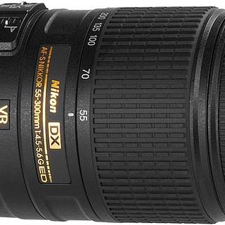 Nikon AF-S DX Nikkor 55-300mm f/4.5-5.6G ED VR Lens (Black)