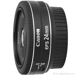 Canon EF-S 24mm f/2.8 STM Lens (Black)