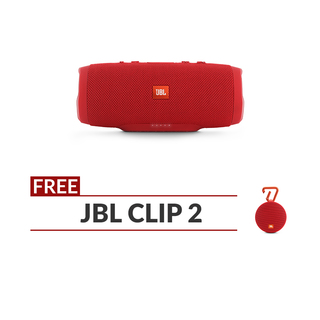 JBL Charge 3 Red with free Clip 2 Speaker