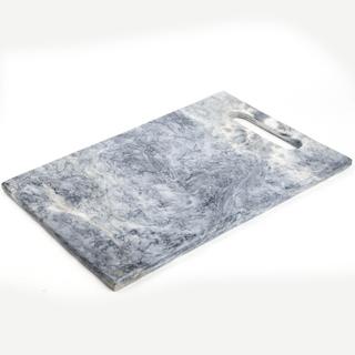 "Marmol Stonework Gray Marble Cheese Platter with Tab 8""x12"" (M812CHPLTBG)"