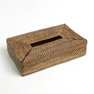 NITO RECTANGULAR TISSUE BOX HOLDER BLACK BOTTOM (51139)