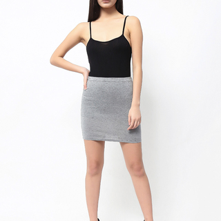 Uropa Light Grey Tight Skirt (AUV011064)