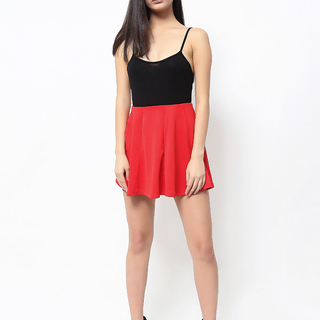 Uropa Red Flare Skirt (AUV001018)