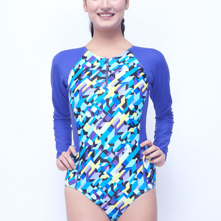 Angelfish Long Sleeved One Piece Iredescent Fashion Collection ( Blue - 1136 )