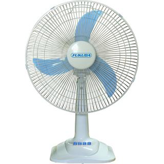 "Fukuda 16"" Plastic Desk Fan, Banana Blade DF-160C Blue"