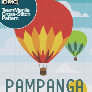 DMC INSPIRATIONS CROSS-STITCH KIT: TEAM MANILA PAMPANGA (ECK-102)