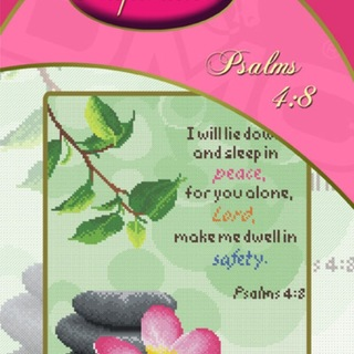 DMC INSPIRATIONS CROSS-STITCH KIT: PSALMS 4:8 (ECK-107)