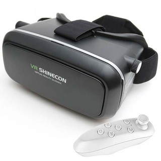 VR SHINECON Virtual Reality 3D Glasses For Smartphone With Bluetooth Controller - Black