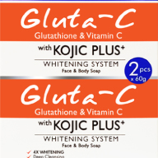 Gluta C with Kojic Plus+ Face and Body Soap x 2 (60 gms x 2)