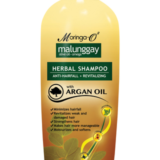 Moringa- O2  Malunggay Herbal Shampoo with Argan Oil (350 ml)