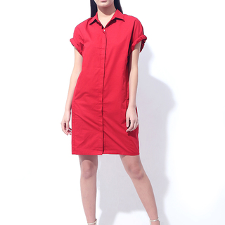CANVAS MOSAIC DRESS (Red)