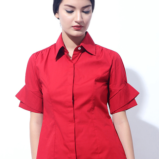 CANVAS TYLER CUFF TOP (Red)