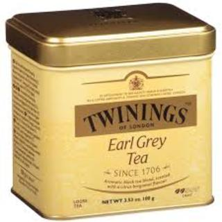 TWININGS EARL GREY LOOSE TEA 100G TIN (47579)