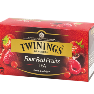 TWININGS FOUR RED FRUITS TEA 2.0 GM - 1 X 25 (33989)