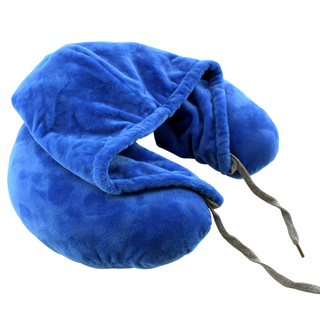 Neck Pillow with Hood (Blue)